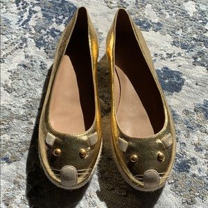 Marc by Marc Jacobs Gold Mouse Flats Espadrilles